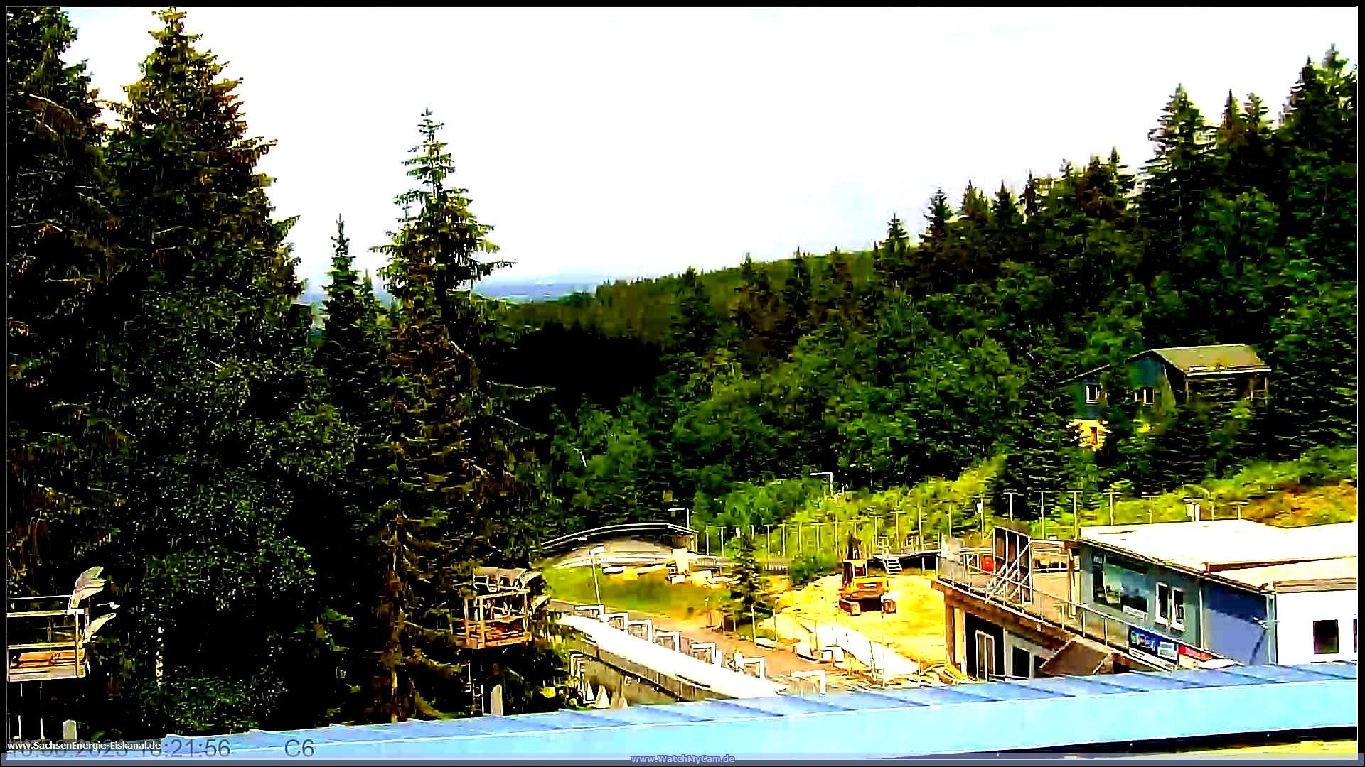 Webcam Skigebied Geising Bobbahn - Ertsgebergte